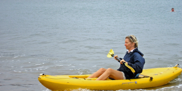Angela Simpson kayaking