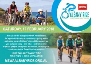 Inaugural MSWA Albany Ride