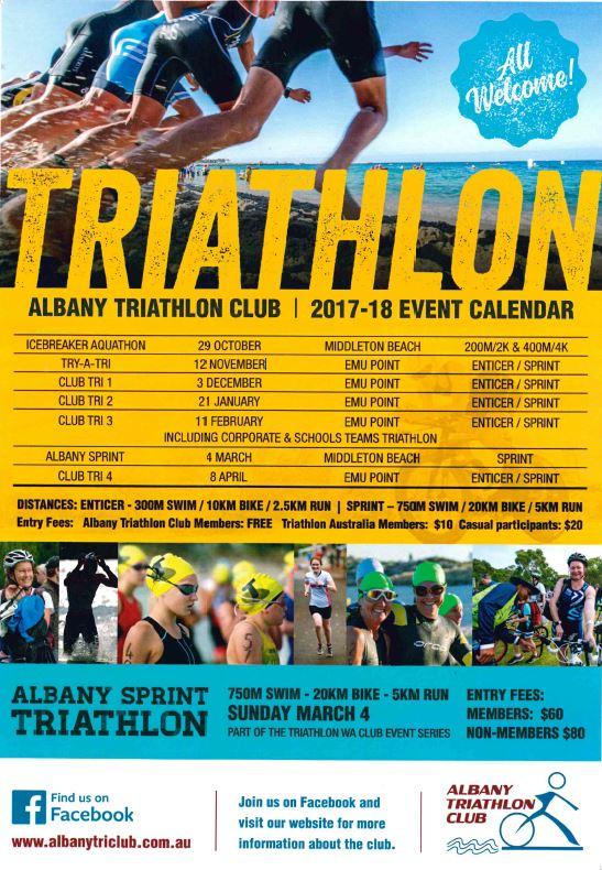 Emu Calendar.Club Tri 2 Albany Triathlon Club Events 2018 Gscore