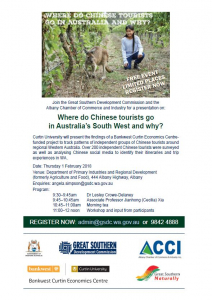 Flyer for China Tourism Presentation