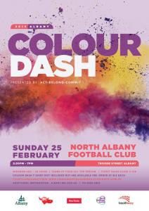 Flyer for Colour Dash