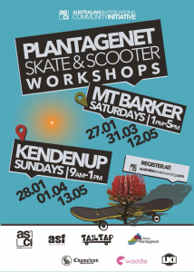 Flyer for Skate and Scooter Workshops