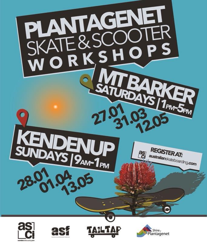 Flyer for Skate and Scooter Workshops