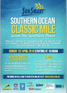 Flyer for Ocean Classic Swim