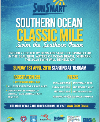 Flyer for Ocean Classic Swim