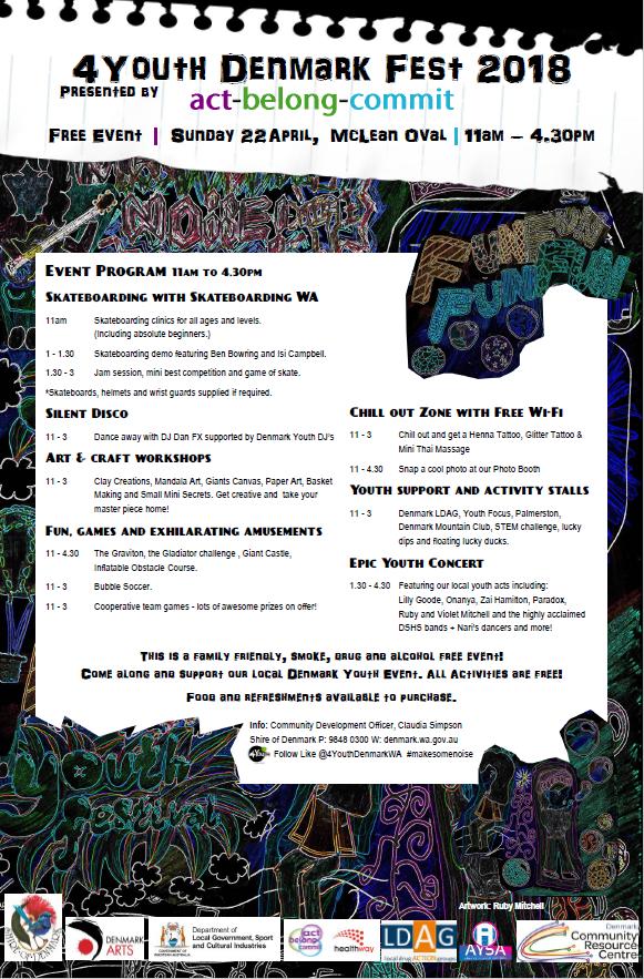 Flyer for 4Youth Denmark Festival 2018