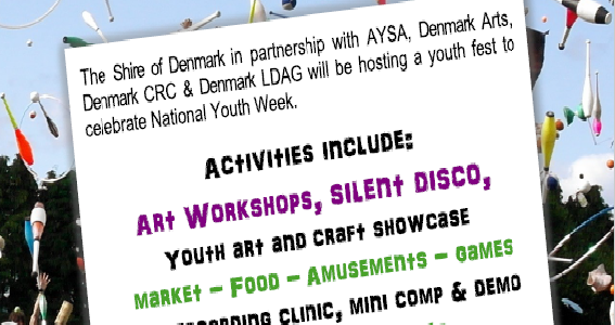 Flyer for 4Youth Festival in Denmark