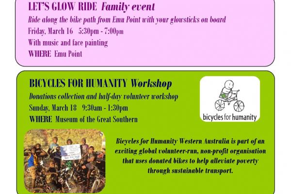 Flyer for bike week events